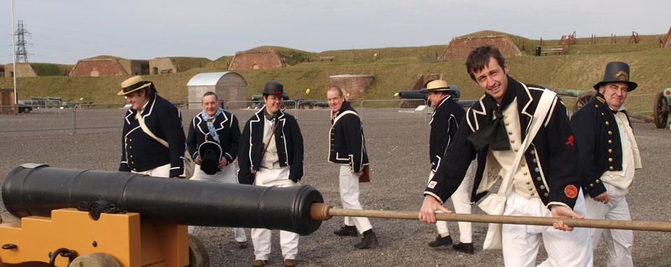 The original 12 pdr naval cannon at the Royal Armouries